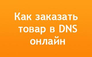 Как заказать товар через интернет в магазине DNS